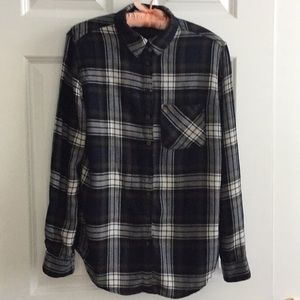 Super soft plaid flannel shirt from Garage